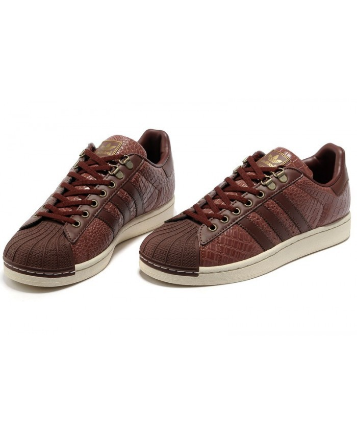 adidas superstar brun