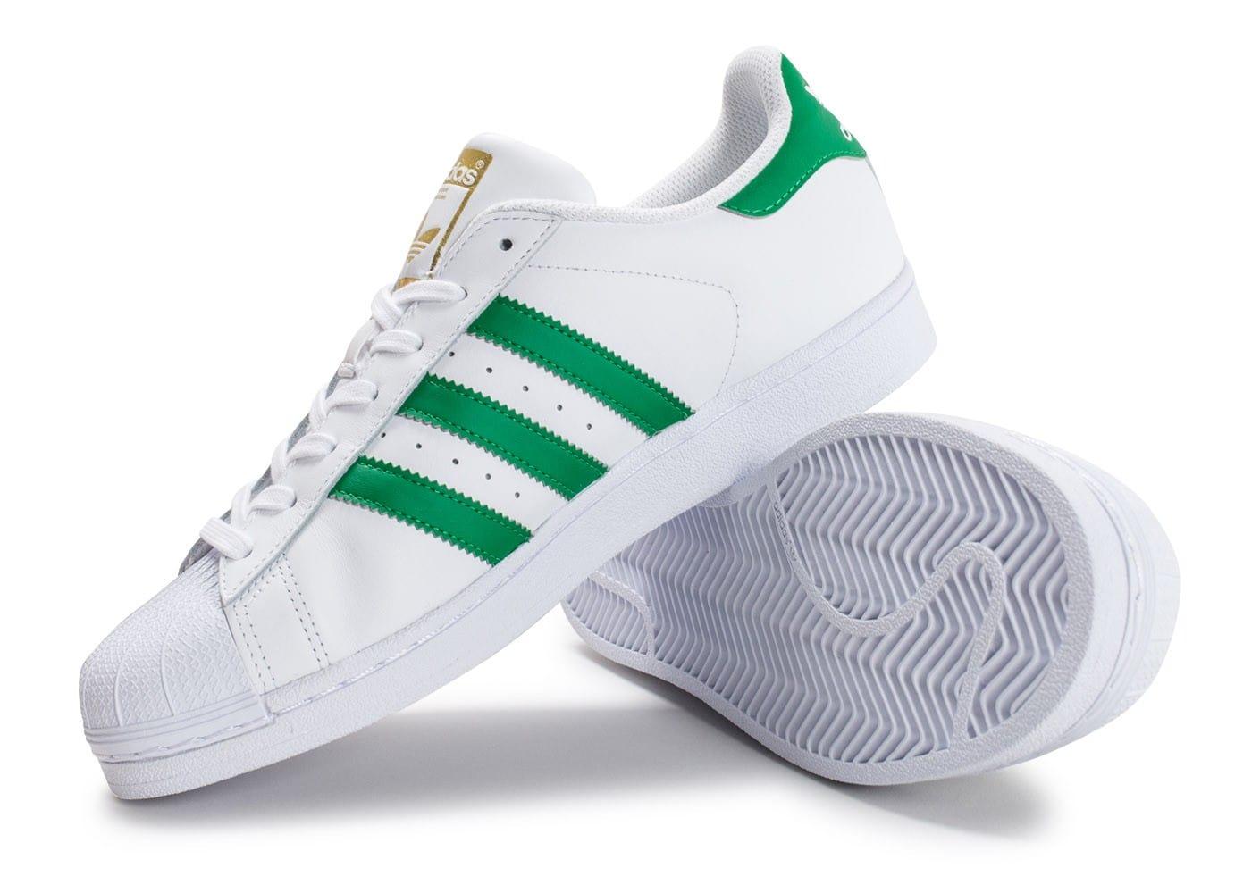 adidas superstar homme vert