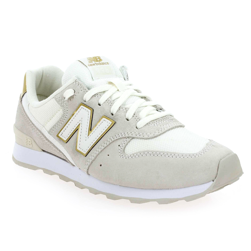 new balance femme blanche et or